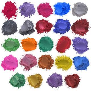 Pigmento Mica Polvo Set Para Diy Barro Baño Jabón Tintes Par