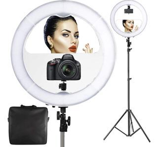 Lampara Aro Luz Led Profesional Maquillaje Foto Video Selfie
