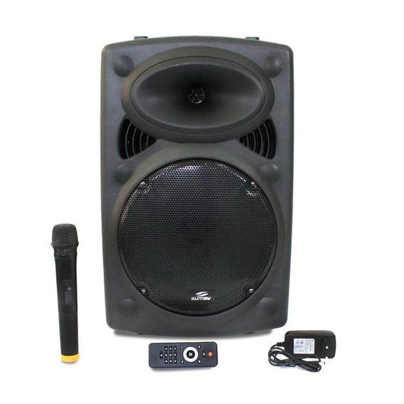 Caixa De Som Amplificada Karaoke 2 Microfones - Bluetooth