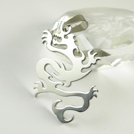 Colar Dragão Chinês De Aço Inoxidável