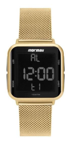 Relógio Mormaii Ref: Mo6600ah/8d Digital Dourado