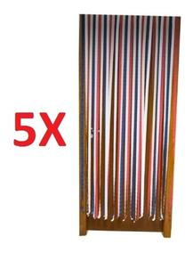 Kit 5 Cortina Para Porta Anti Inseto Tela Protecao Mosquitos