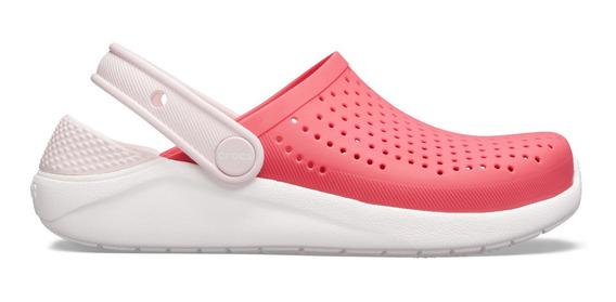 Zapato Crocs Infantil Literide Clog K Rosa/blanco