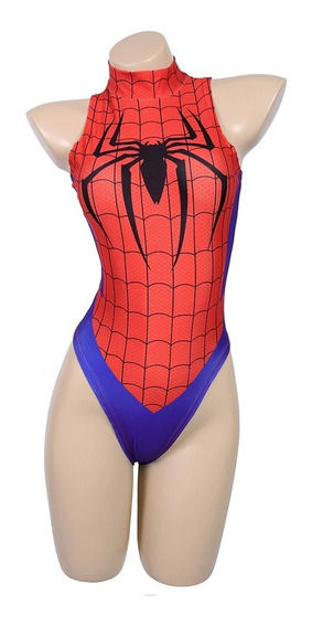 Traje De Baño Body Unitalla Pikachu Pokemon Cosplay Sexy Spiderman Spiderwoman Marvel
