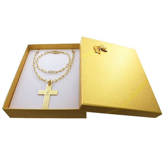Corrente Banhada Ouro 18k C/garantia + Pulseira+pingente+box