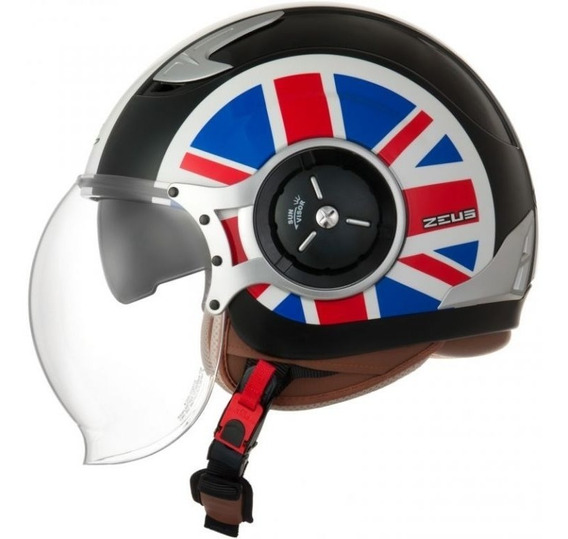 Capacete Zeus 218da Uk Flag Solid