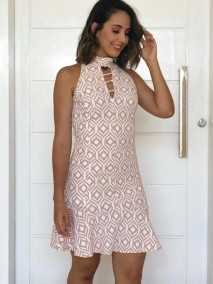 Vestido Feminino Ninnabela Detalhe Na Parte Superior