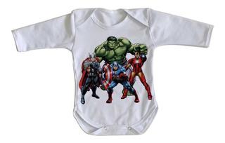 Body Bebê Luxo Vingadores Hulk Vingadores Avengers Marvel Hq