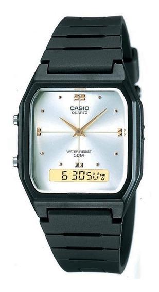 Relógio Masculino Casio Emborrachado Anadigi Aw-48he-7avdf