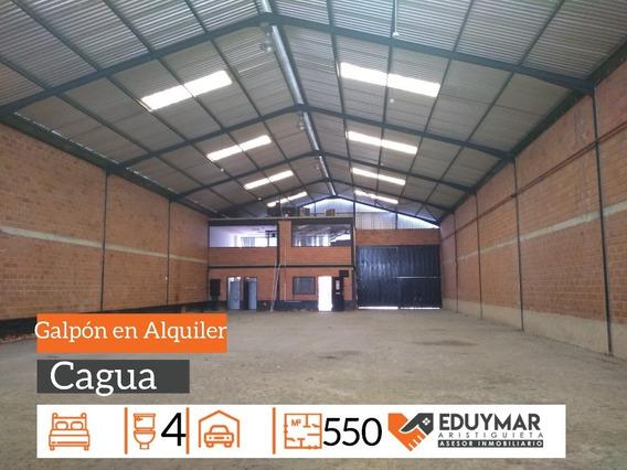 Galpon En Alquiler Carretera Nacional Cagua 0412-872.45.45