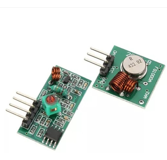 Módulo Rf 433mhz Transmissor + Receptor Am Arduino Rf433mhz