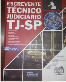 Livro Apostila Escrevente Técnico Judiciário Sp Usado