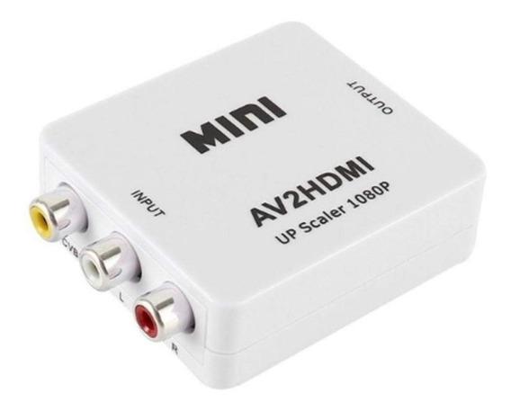 Conversor Adaptador De Video Rca Av2 A Hdmi 720p 1080p