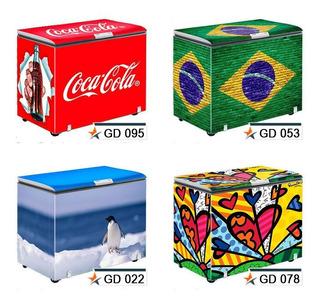 Adesivo Decorativo Envelopamento Total Freezer Imagem Compl.