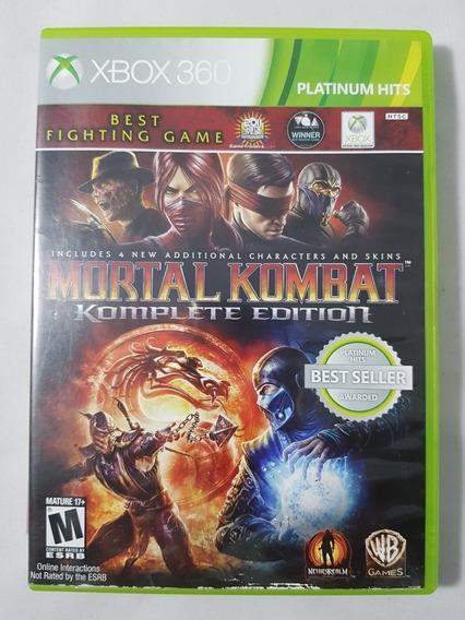 Mortal Kombat 9 Komplete Edition Xbox 360 Mídia Física