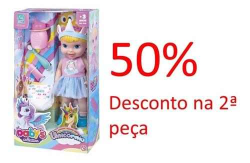 Promoção Boneca Babys Collection Unicórnio 406