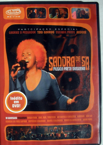 Dvd - Sandra De Sa Ao Vivo Musica Preta Brasilera Imp.brasil