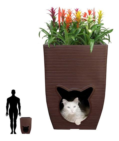 1 Vaso Casa De Gato Comedouro Catnip Ratinho Bola 60x40 Cm