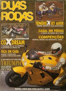 Duas Rodas N°215 Ténéré Xt 600e Cg 125 Dream 100 Triumph Bmw