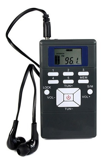 Rádio Receptor Walkman Fm Portátil De Bolso Importado Cinza