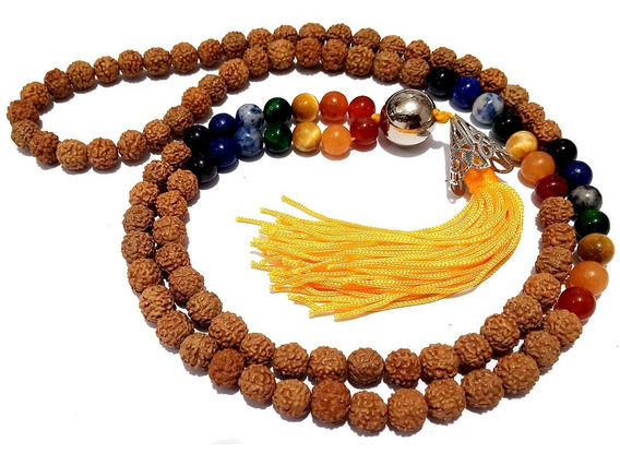 Jamapala 108 Semente Rudraksha Pedras Naturais 7 Chacras