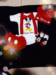 Conjuntos De Mickey Y Minie Personalizados De 0 A 24 Meses