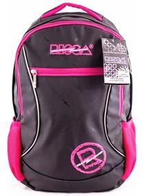 Mochila De Costas Risca Preto/pink Original Ref. 9054