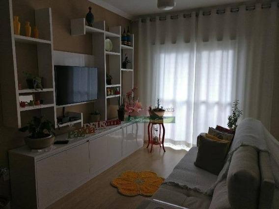 Apartamento Com 3 Dormitórios À Venda, 88 M² Por R$ 371.000 - Parque Residencial Beira Rio - Guaratinguetá/sp - Ap4212