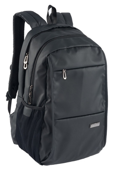 Mochila Doble Compartimiento Grande Negra Para Laptop 15.5