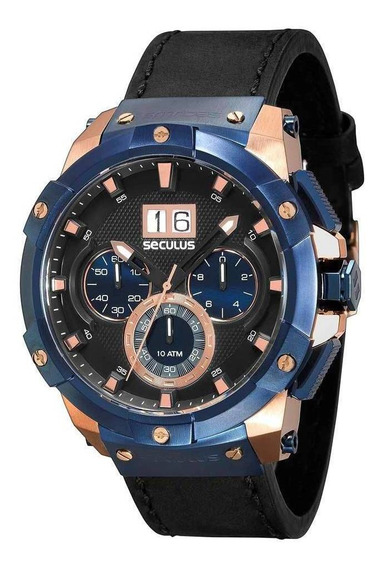 Relógio Seculus Masculino Analógico Upper 13008gpsvrc3