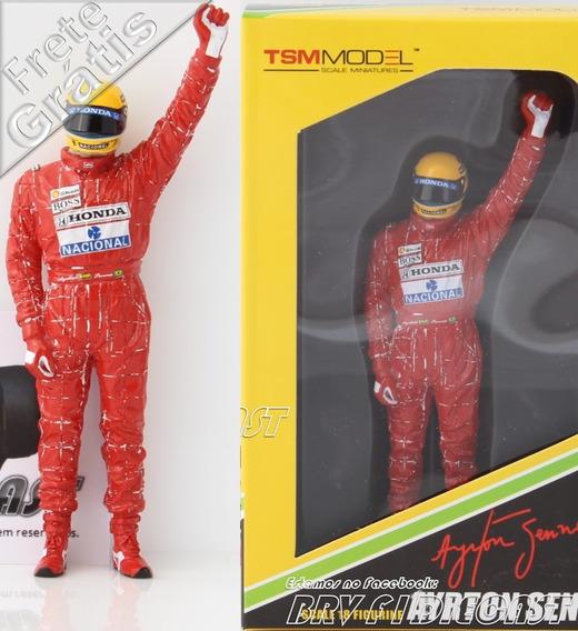 1/18 Tsm Figura Ayrton Senna Mclaren Comemorando Vitória F1