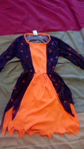 Disfraz Para Niña Brujita Poco Uso Talla 4-6
