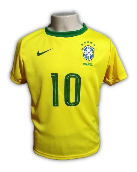 Camiseta Do Brasil Infantil Neymar Seleção Brasileira 2019