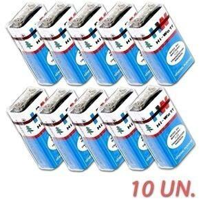 Bateria Pilha 9v Caixa Com 10 Unidades Hw 6f22m Original