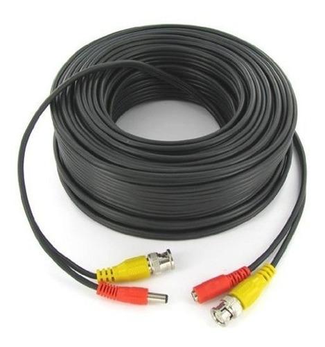 Cable Para Cámaras Seguridad Dvr Cctv Negro 30 Metros