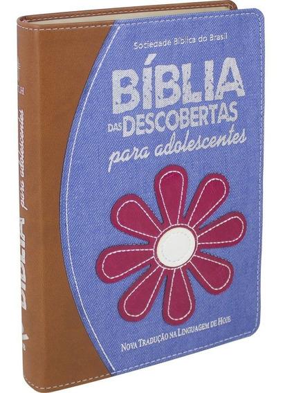 Bíblia Das Descobertas Para Adolescentes - Couro E Jeans Sbb