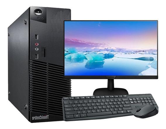 Computador Completo Lenovo I5 4gb 500gb Hd Wifi Monitor 19