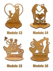 200x Lembrancinha Casamento Lbc-24 Modelos - Mdf Crú 10cm