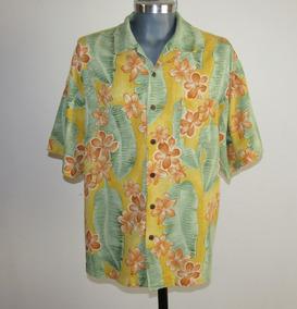 Bermuda Bay Camisa Hawaiiana 100% Seda Talla Xl