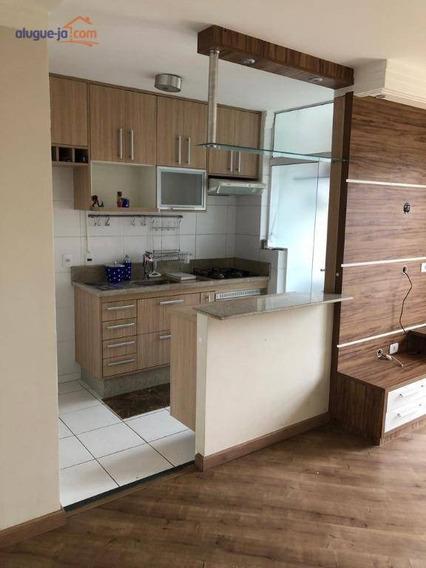Apartamento Com 2 Dormitórios Para Alugar, 50 M² Por R$ 1.600/mês - Parque Residencial Flamboyant - São José Dos Campos/sp - Ap7180