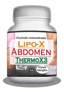 Lipox Abdomen Termogênico Emagrecedor Natural 750mg