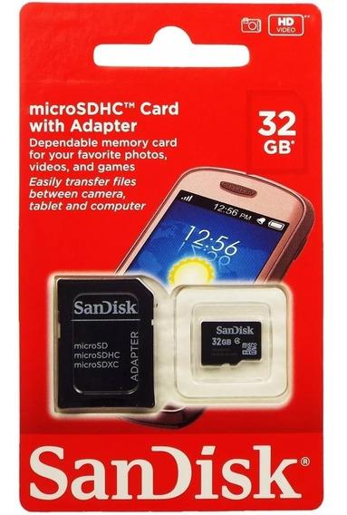 Cartão De Memória 32gb Sandisk Original Classe 4