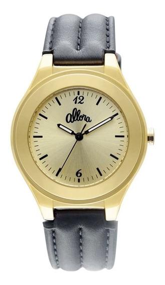 Kit Relógio Feminino Allora Analógico Al2035ey/2e Dourado