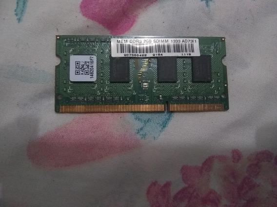 Memória Ram Notebook Pc3 Ddr3 2gb 10600s 1333mhz Adata
