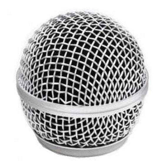 Globo Metálico P/ Microfone Shure Sm58 Beta 58 Similares Mxt