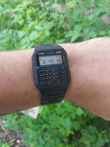 Relógio Casio Ca-53w-1z Calculadora Preto Original