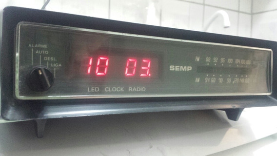 Rádio Relógio Despertador Semp
