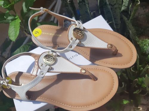 Sandalias Tommy Color Blancas Impecables