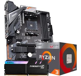 Kit De Actualizacion B450 Aorus Elite Ryzen 3 3200g 8gb Am4