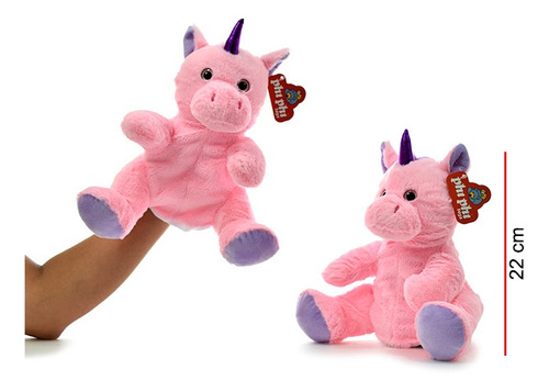 Títere De Mano Unicornio Con Patas 22 Cm - Phi Phi Toys